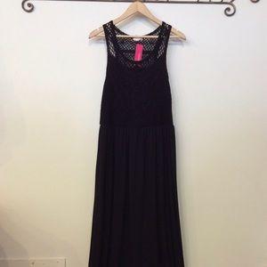 Xhileration Black Maxi Dress Size XL